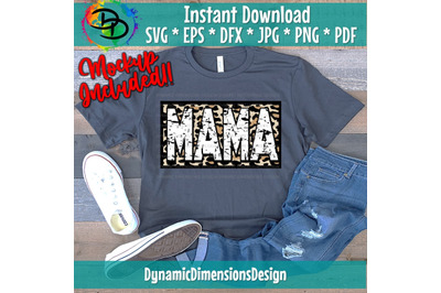 Mom Life, Mom, Mama, Mom Quote, Dots, Pattern, Leopard Print SVG, dxf,