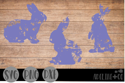 Distressed bunnies, SVG, Easter