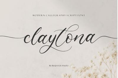claytona Modern Calligraphy Script Font
