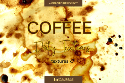 COFFEE Dirty Textures x7