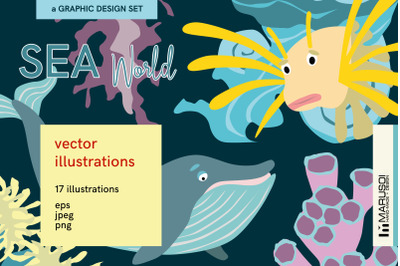SEA World vector illustrations