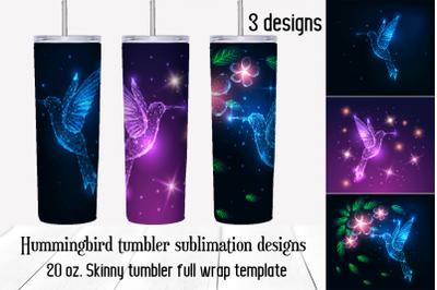 Hummingbird, Colibri  tumbler sublimation designs.