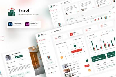 Travl - Hotel Admin Dashboard UI