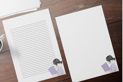 Elegant Writing Stationery Papers, Printable Letter Writing Stationery