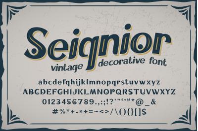 Seignior - vintage font