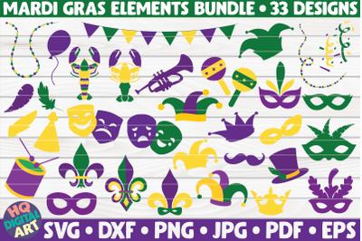 Mardi Gras Elements SVG Bundle   33 designs