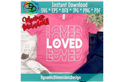Love Is All You Need SVG, Valentine's Day Cut File, Mirror Words Desig