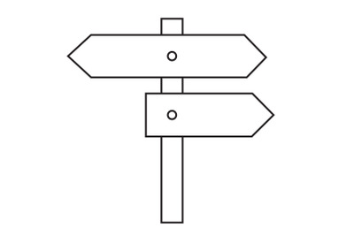 Camping Directions Icon outline