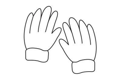Camping gloves icon outline