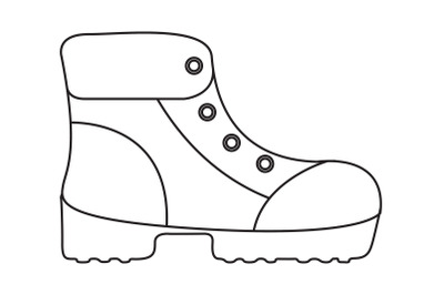 Camping Mountaineering Boots Outline Icon
