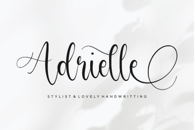 Adrielle Stylist & Lovely Handwritting Font