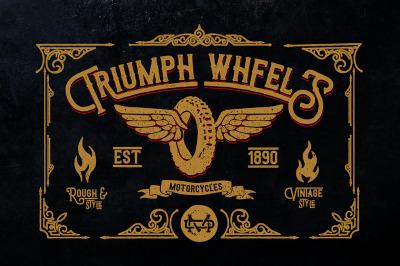 Triumph Wheels Typeface