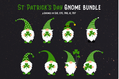 St Patrick's Day Gnome Bundle SVG