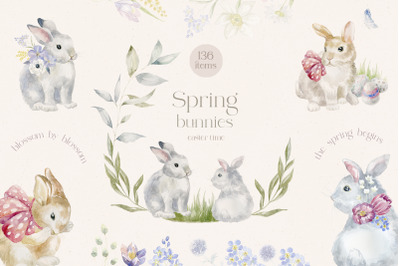 Spring Bunnies. Easter Time.