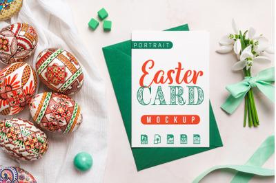 Portrait Easter Card Mockup