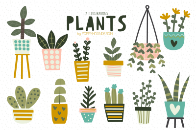 Plants clipart set