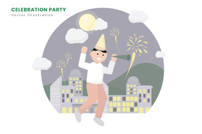Celebration Party Flat Vector Illustration