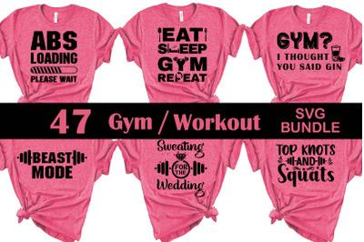 Gym / Workout SVG bundle, Gym svg cut file, Gym svgs