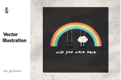 Cute rainbow illustration