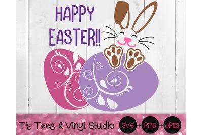 Happy Easter Svg, Easter Bunny, Easter Eggs, Floppy Ears, Bunny Rabbit
