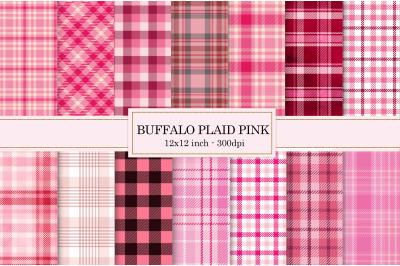 Pink buffalo plaid, textures pink, buffalo plaid