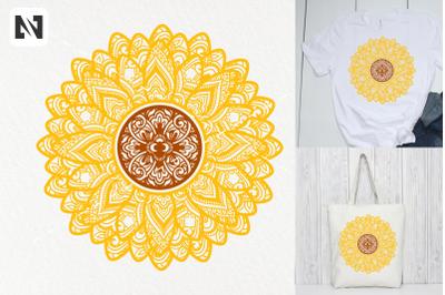 Sunflower Mandala Svg, Sunflower Svg, Mandala Svg, Flower Svg