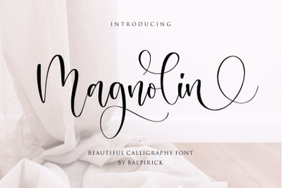 Magnolin Beautiful Calligraphy Font