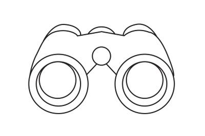 Mountaineering Binoculars Outline Icon