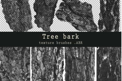 Tree bark - texture brushes for Photoshop, ProCreate .ABR
