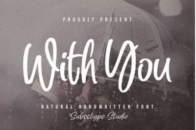 With You - Handwritten Font