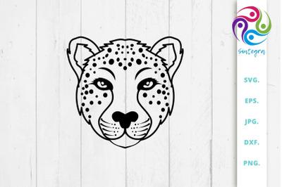 Cute Cheetah SVG Illustration