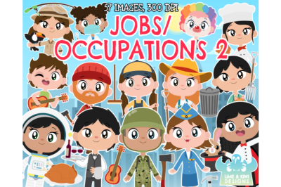 Jobs/Occupations 2 Clipart - Lime and Kiwi Designs