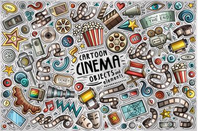 Cinema Cartoon Objects Set