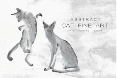 Abstract Cat Fine Art