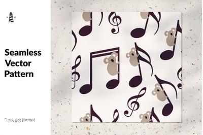 Music is my life - koala pattern