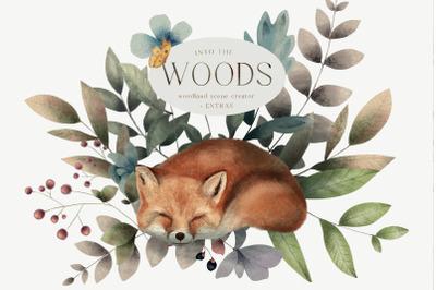 Woodland Scene Creator Animals Trees Butterflies Backgrounds