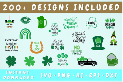 St Patrick's Day Mega SVG Bundle - 219 Designs Included