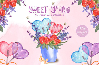 Sweet Spring Watercolor Collection