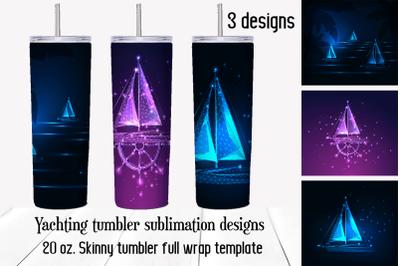 Nautical tumbler sublimation designs. Yacht png backhround.