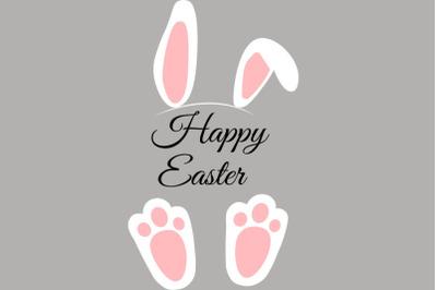 Easter bunny feet and ears svg, Rabbit feet svg, Easter svg, Easter de