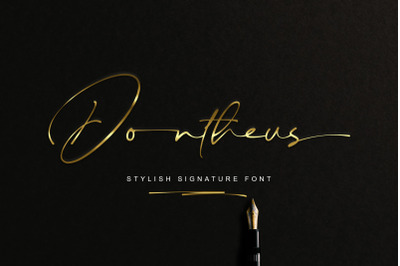 Dontheus - Signature Font