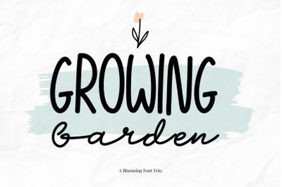 Growing Garden Handwritten Font Trio
