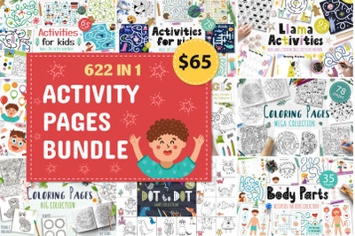 Activity Pages Bundle: 622 in 1