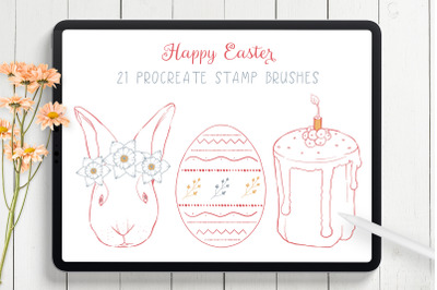 Easter Procreate Stamp Brushes