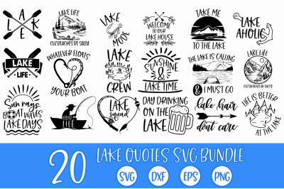 Lake Quotes SVG Bundle