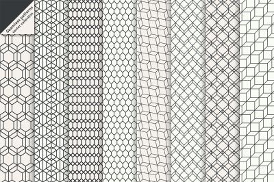 Hexagonal linear seamless patterns