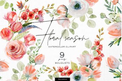 Floral season. Bouquets set, vol.1