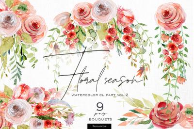 Floral season. Bouquets set, vol.2