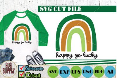Saint Patrick's Day SVG Happy Go Lucky SVG Cut File