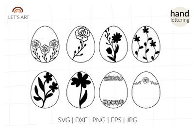Easter egg cricut wildflowers decor.